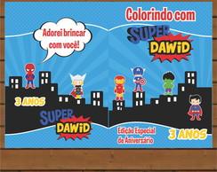 Capa Livro Colorir - Super Herois
