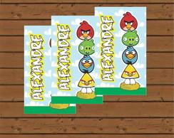 R�tulo Para Tubete - Angry Birds