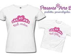 Camisas M�e e Filha - Princesas