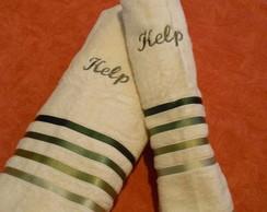 Kit toalha de Banho e Rosto Personalizad