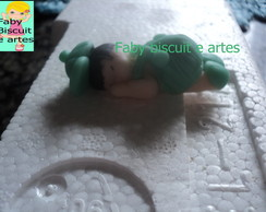bebe macacao verde