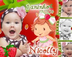 Lembrancinha Moranguinho Baby 6,5x4,5