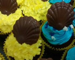 Cupcakes fundo do mar bob esponja