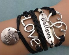 Pulseira Bracelet Believe In Love Metal