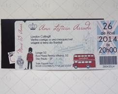 Convite 15 anos Ticket Travel
