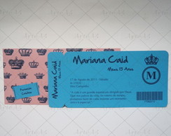 Convite 15 Anos Ticket Envelope Impresso