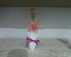 Flor em Meia de Seda