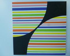 Pintura acr�lica sobre tela 90x90cm