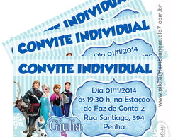 100 Convites individuais - Frozen