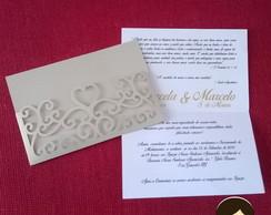 Convite de Casamento#001 Heart