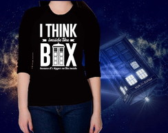 CAMISETA FEMININA 3/4 -DOCTOR WHO-TARDIS