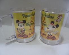 Caneca Mickey e Minie Safari (juntos)