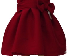 Vestido Shantung Vermelho: 483FCC