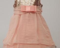 Vestido Infantil Paet� Salm�o: 3A759C