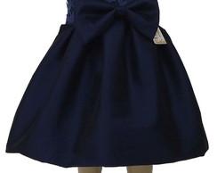 Vestido Shantung Azul Royal: 48436E