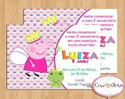 Convite Peppa Pig Fadinha