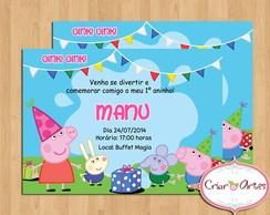 Convite Peppa Pig e Sua Turma