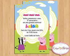 Convite Peppa Pig e Zoe