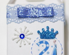 Caixa Papel Personalizada Frozen Branca