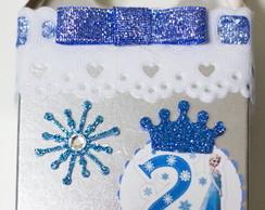 Caixa Papel Personalizada Frozen Prata
