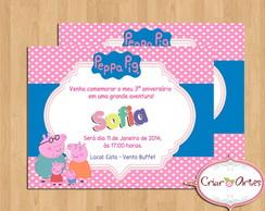 Convite Fam�lia Peppa Pig