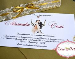 Convite de casamento - Renda