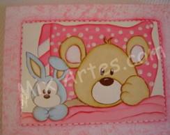 """Caixa para beb�- """"Ursinha feliz"""""""