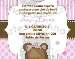 Convite Ch� de Beb� Ursinha