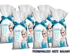 Saquinho Surpresa Personalizado Elsa