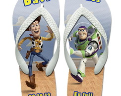 KIT Chinelos Personalizados Toy Story