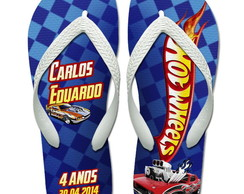 Chinelos Personalizados Hot Wheels