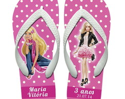 Chinelos Personalizados Barbie