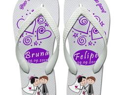 Chinelos Personalizados - Casamentos 3
