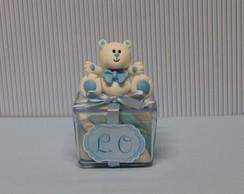 Urso azul lembrancinha