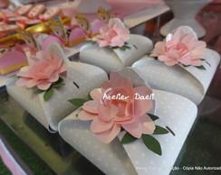 Porta bombom Princesas flores