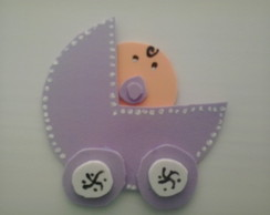 Lembrancinha carrinho de beb� em EVA