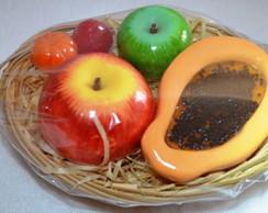 Cesta de Frutas Sabonete Lembrancinha