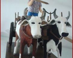 Carro de boi com vaqueiro