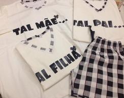 Pijama em malha curto personalizado.