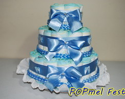 Bolo de Fraldas P azul