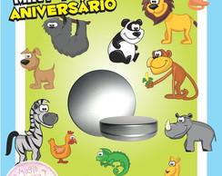 Latinha Anivers�rio - Animais