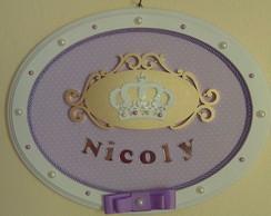 Quadrinho Oval-Princesa Lil�s com Coroa