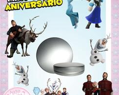Latinha Anivers�rio - Frozen