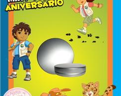 Latinha Anivers�rio - Go Diego Go