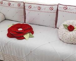 Ref 516-Kc Borboletas Drapeado Vermelho