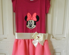 Vestido de festa chiffon Minnie Mouse