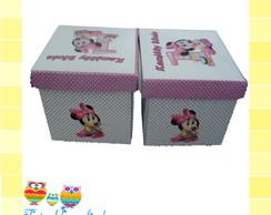Convite Caixa Minnie rosa baby