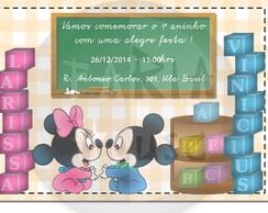 Convite arte digital - Baby Disney 1