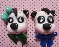 Aplique Biscuit Cabe�a pet Panda
