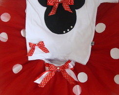 Conjunto Minnie Vermelha